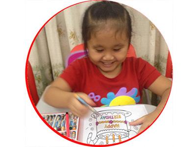 Lê Hạo Nhiên: học viên lớp Panda1, rất thích học tiếng Anh với cô Chi tại BIS